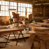 Furniture factory.